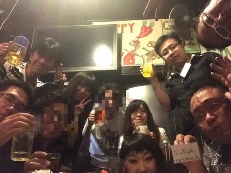 鶴ヶ島居酒屋すうちゃんフリーオフ会記念撮影
