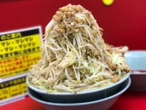 立川マシマシ足利デカ盛り大食い中ラーメンヤサイマシ豆腐ハーフ