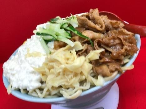 立川マシマシ足利すごい冷やし中華麺マシ豆腐