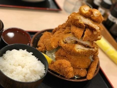 18切符旅奈良県代表デカ盛り店とんまさ名物デカ盛りジェンガ盛りチキンカツチキンカツ定食