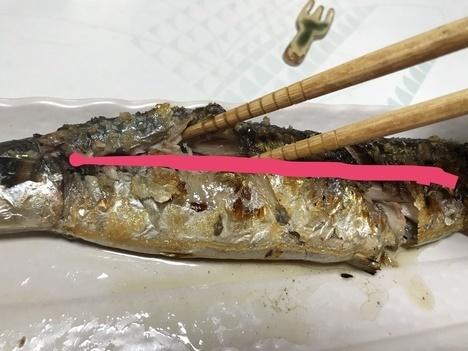 焼き魚さんまの食べ方手順