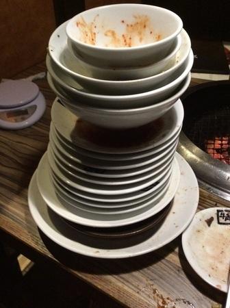 牛角食べ放題完食皿