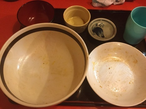 いわき中華のんきミニのっけ丼完食