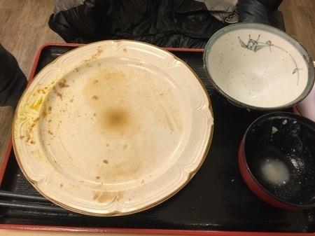 とんかつ麻釉ジャンボヒレカツ定食大盛り完食