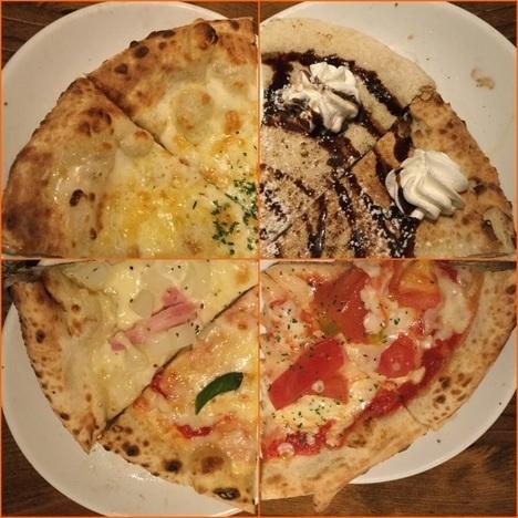 ナポリの食卓桐生店巡回ピザの複合写真