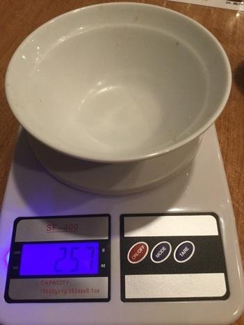 本庄満腹食堂麻婆豆腐定食大盛りごはん計量