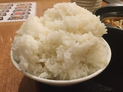 本庄満腹食堂麻婆豆腐定食大盛りごはん
