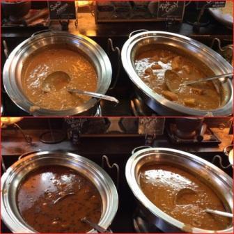 印度屋のカレー4種