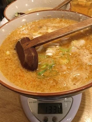 桐生もん吉デカ盛りメニューゆりもりつけ麺味噌つけ汁