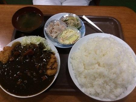 渋川叶食堂カツカレー特盛りセット
