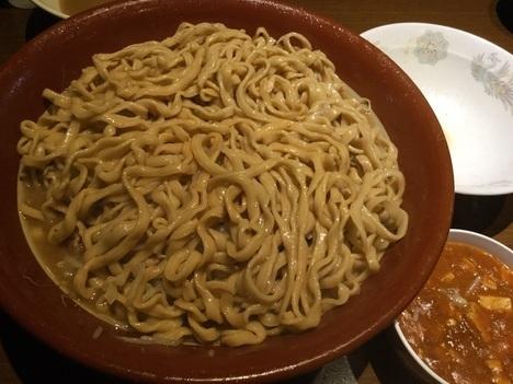 蒙麺火の豚麺マシゆで前1kgすり鉢フュージョン天地返し