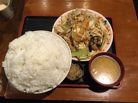 上州屋ぷちオフW肉野菜炒め定食ごはんメガ