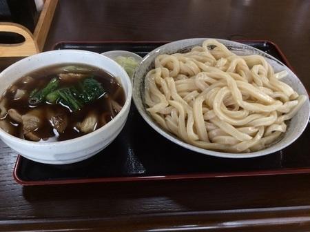三芳町永井肉汁うどん大盛り