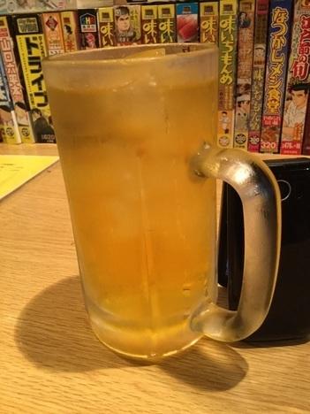聖籠ドライブイン小柳のジョッキお茶