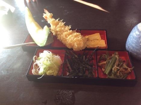 本庄わんこそば小川屋薬味と天ぷら