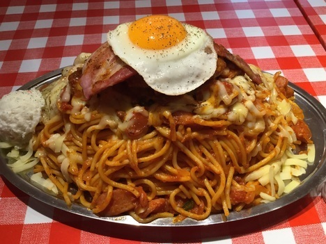 スパゲティのパンチョ大宮店ナポ星人全部乗せ