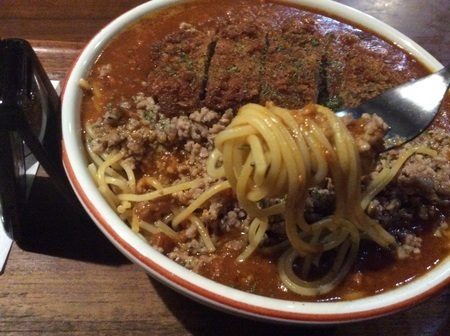 沼田エルベの大盛りトリプルミート麺リフト