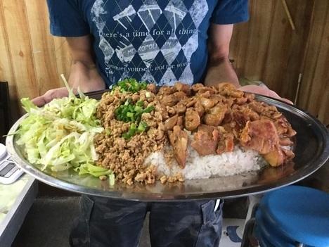 足利まんぷく処たぬき特注ランチデカ盛り鶏丼