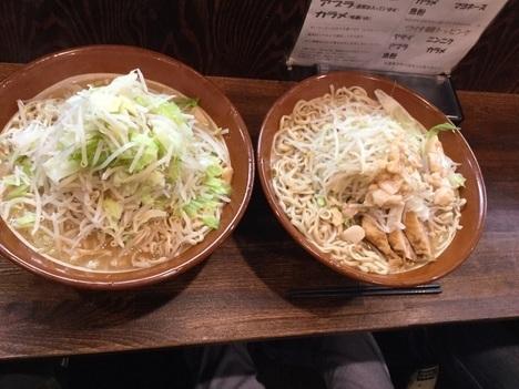 西新井ラーメン鳳すり鉢麺マシ比較