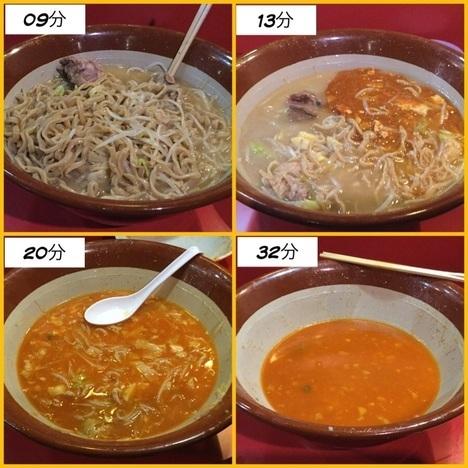 蒙麺火の豚フュージョン麺増しヤサイマシマシ経過