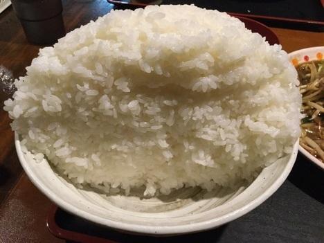 上州屋ぷちオフW肉野菜炒め定食ごはんメガ断面