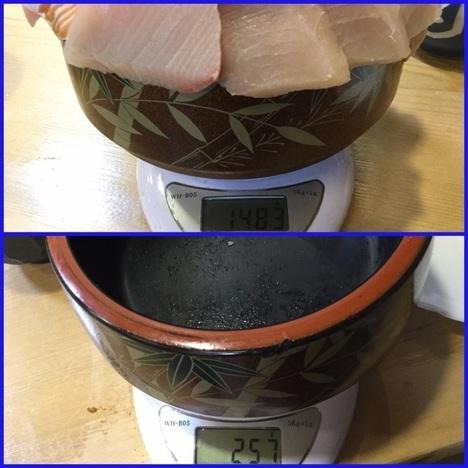 東松山竹寿司大盛り2倍海三色丼計量