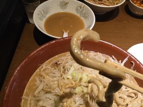 蒙麺火の豚麺マシゆで前1kgすり鉢フュージョンお宝極太麺