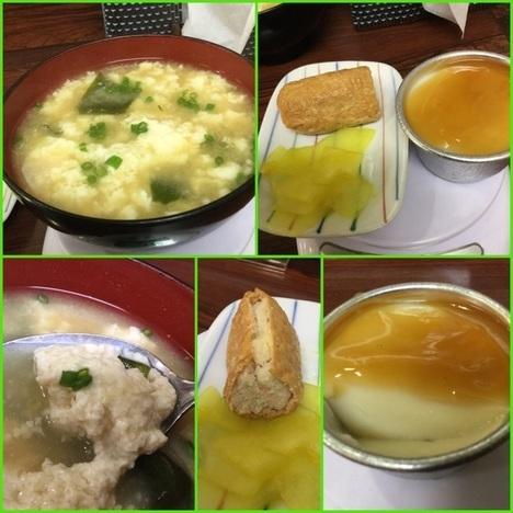 島ちゃん食堂デカ盛り麻婆豆腐定食各種添え物
