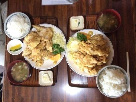 東松山ニュー北味唐揚げ定食おかず大盛り