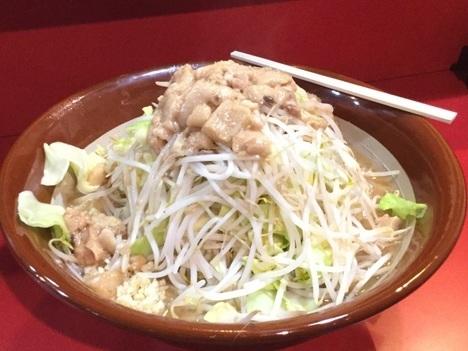 蒙麺火の豚二郎系麺増しヤサイマシマシ