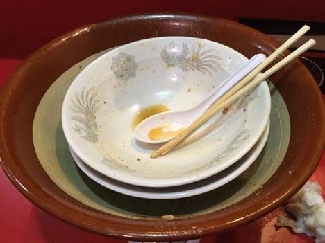 火の豚フュージョン麺マシすり鉢完食