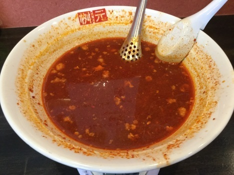 枡元辛麺スーパー激辛スープ