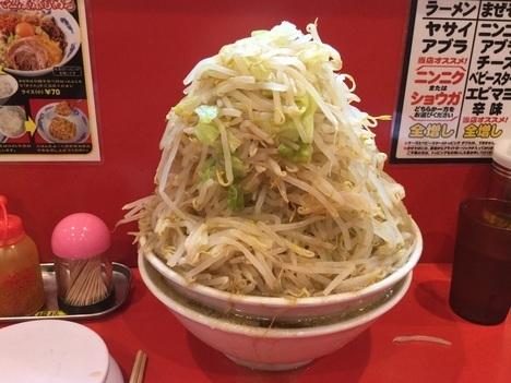 ドンキタモト別盛麺増し野菜トリプル別アングル