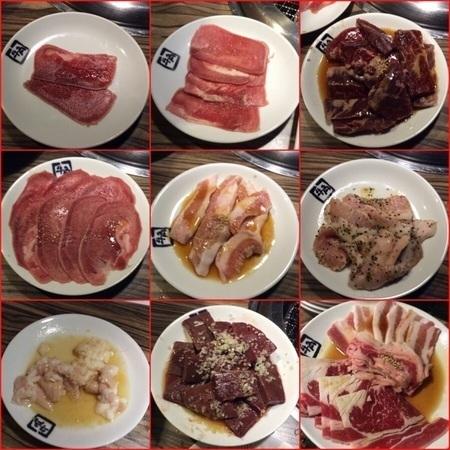 牛角食べ放題のお肉