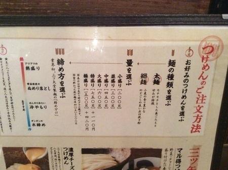 三ツ矢堂製麺メニュー