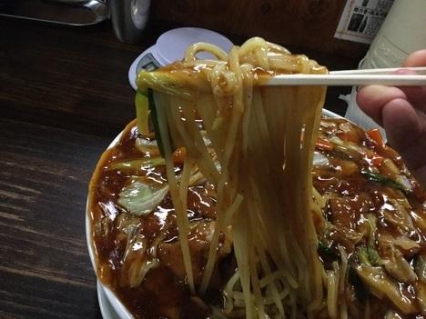 我流食堂デカ盛りスタミナ冷やしラーメン麺リフト