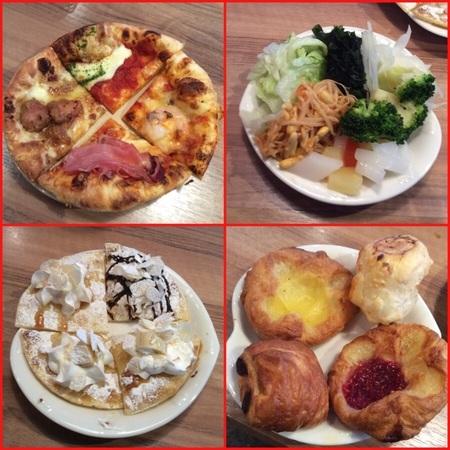 ランチみどりマコマコ食べ放題パンとピザ