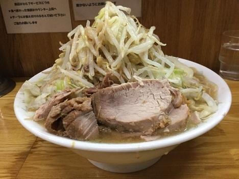 ラーメン二郎赤羽店大ラーメンヤサイアブラ