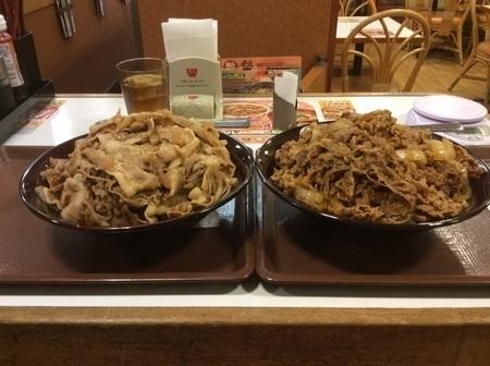 すき家キング牛丼キング豚丼ダブル大食い