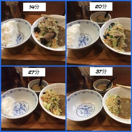 二代目蝦夷トリプル肉野菜炒め定食経過